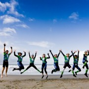 Jump for joy on Climate Ride!